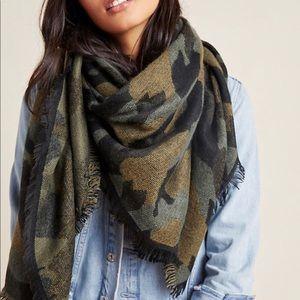 Anthropologie Mason printed camo scarf